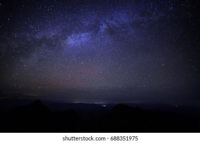 Milky Way Galaxy, Night Sky with Amazing Stars