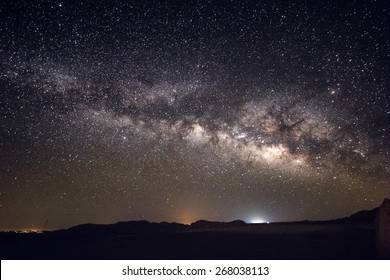 Milky Way Galaxy over Israeli Desert at Night