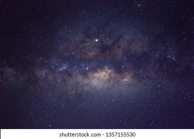 Milky Way Galaxy rising in Sabah North Borneo Asia. Image contain Noise and Grain due to High ISO. Image also contain soft focus and blur due to Long Exposure and Wide Aperture.