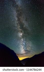 Milky Way galaxy as seen in the Northern Hemisphere