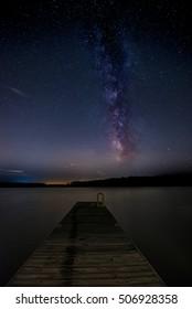 Milky way galaxy seen over the jordon lake