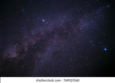 Milky way galaxy with star and dust in sky night background