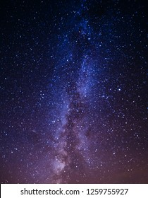 Milky Way Galaxy with stars background, long exposure