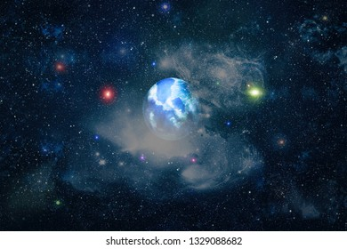 Milky way galaxy with stars and space . New large panoramic looking into deep space. Dark night sky full of stars. The nebula in outer space. Secrets of deep space.