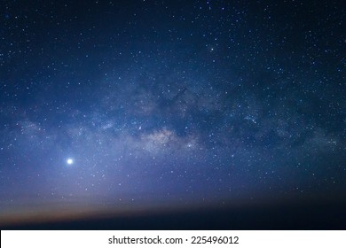 Milky way galaxy with stars and space dust in the universe - Shutterstock ID 225496012