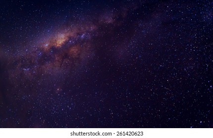 Milky way galaxy with stars and space dust in the universe, with copy space.