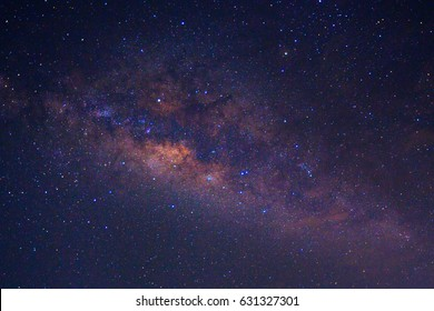 Milky way galaxy with stars and space dust in the universe,noise and grain picture style