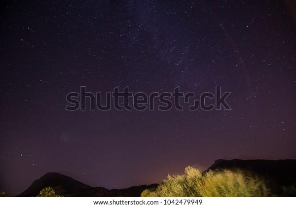 Milky way Grazalema mountains Cadiz Andalusia Spain