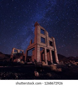 Milky Way Image of Cooks Bank in Death Valley, Rholite USA