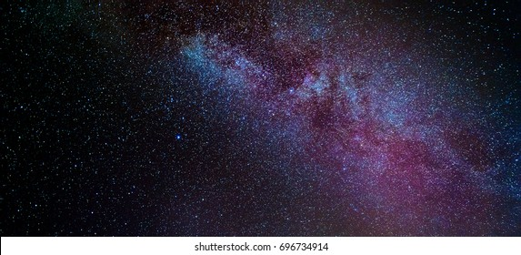 The Milky Way and Jupiter greet eachother in the night sky