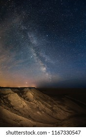 Milky way and landscape