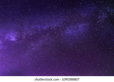 The milky way light is a colorful landscape by night. Sky is filled with stars beautiful. Background area with the Galaxy suitable for tourism.