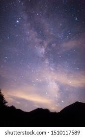 The Milky Way is a nebular cluster like a shining belt crossing the night sky. - Shutterstock ID 1510117589