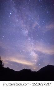 The Milky Way is a nebular cluster like a shining belt crossing the night sky. - Shutterstock ID 1510727537