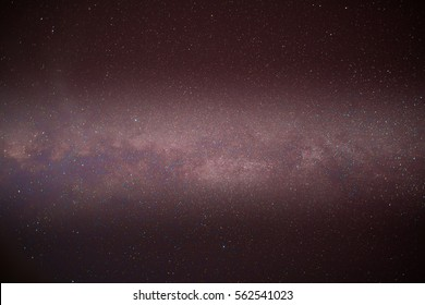 Milky way at nigh sky above mountain location at north of Thailand