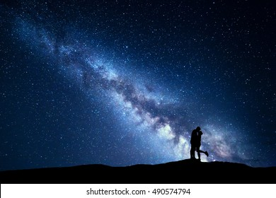 Laying Under the Stars Clip Art