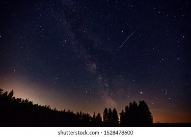 Voie Lactée dans le ciel nocturne.