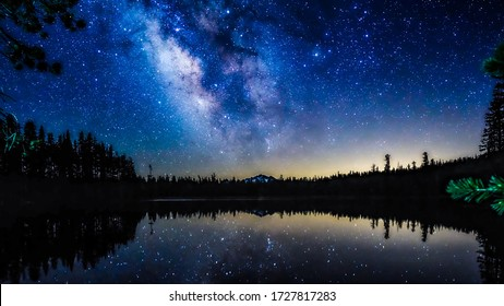 Milky way in the night sky - Shutterstock ID 1727817283