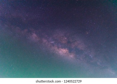 The milky way in night sky background.