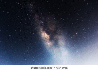 Milky Way in the night sky. (No background on the details).