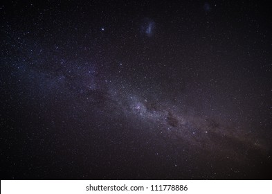 The Milky Way in the night sky. Outer space background.
