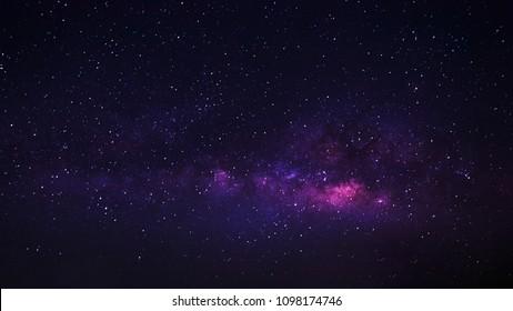 Milky Way Night sky with star.