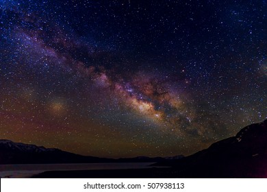 Milky Way, Milky Way night sky with stars, Milky Way Background
