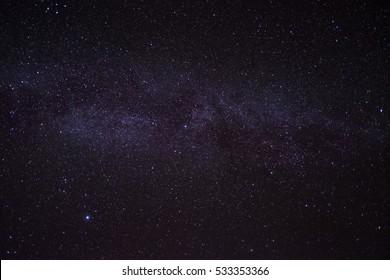 Milky way. Night sky with stars. background