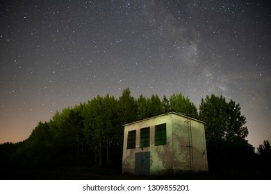 milky way , night stars