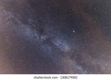 Milky way on the dark night sky
