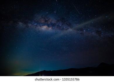 Milky way on dark night