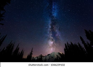 Milky Way on Mount Rainier