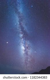 Milky Way on mountain