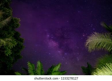 milky way on night sky