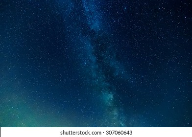 milky way on night sky, abstract natural background