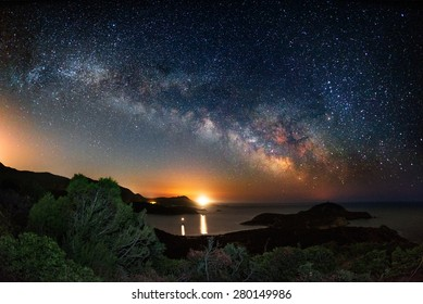 Milky way on over the Malfatano Cape  - Shutterstock ID 280149986
