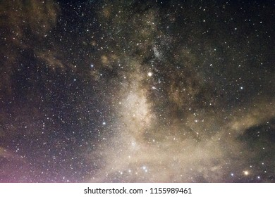 The Milky Way is our galaxy. Night sky with stars. Space background.