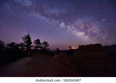Milky Way Over Bryce Canyon, Utah, United States