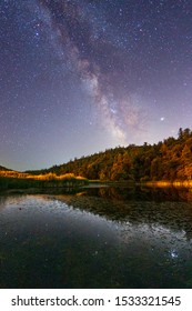 Milky Way Over Doane Pond In Palomar Mountain State Park