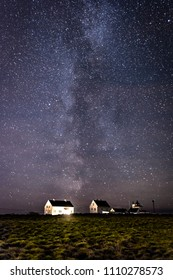 Milky way over farm Norway
