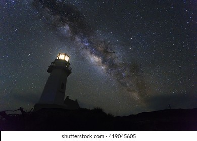 milky way over the lighthouse