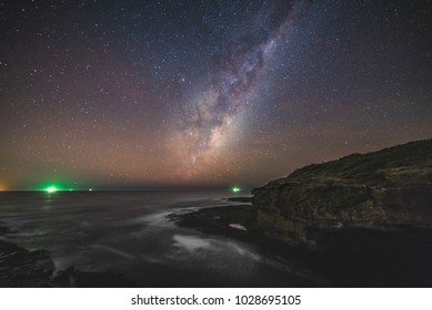 The Milky Way over the ocean