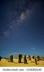 Milky Way over the Pinnacles, Western Australia