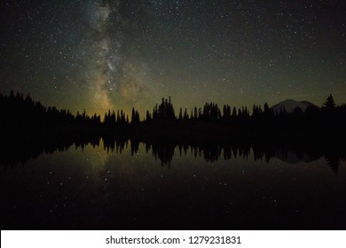 Milky Way Over Tipsoo Lake In Mt. Rainier National Park