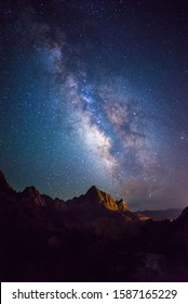 Milky way over Zion national park, Utah