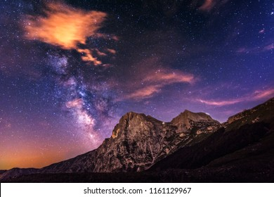 Milky Way from the peak of Mountain, with Galactic center in Prati di Tivo - Abruzzo - Italy