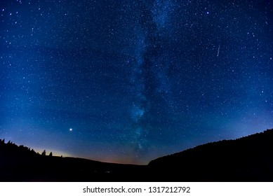 Milky way and Perseid meteor shower 2018.