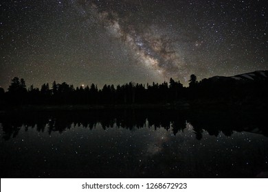 Milky Way Reflection on Lake in Eastern Sierra Mountains USA