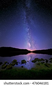 The Milky Way and its reflection on Salt Fork lake, Ohio.