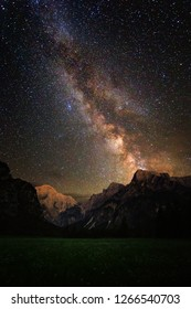 milky way rising over the mountain
